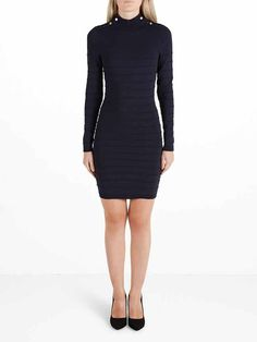 Damesmode, Y.A.S. jurk met lange mouwen en knoop details MEER http://www.pops-fashion.com/?p=31509