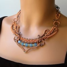 Dance Copper Necklace - on | by Ruth Jensen
