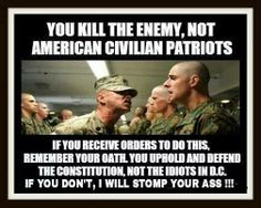 If you're in the military or law enforcement, remember, you swore an oath to defend the American constitution. You did not swear an oath to promote world government. ~ RADICAL Rational American's Defending Individual Choice And Liberty Military Quotes, Military Humor, Military Life, Army Life, Conservative Politics, Thats The Way, God Bless America, Way Of Life, Usmc