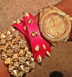 Gold and Pink Accessories