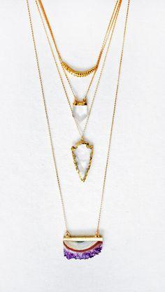 CRYSTAL Punkt Halskette von keijewelry auf Etsy