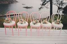 Pink ombre bentwood chairs | 100 Layer Cake