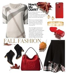 """""""Fall Outfits"""" by mrsjillc ❤ liked on Polyvore featuring Burberry, Alexander McQueen, Gucci, Rupert Sanderson, Valentino, Jules Smith and falloutfits"""