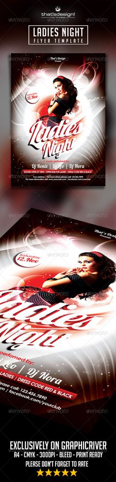 Ladies Night Flyer template Official website : http://thats-design.com/