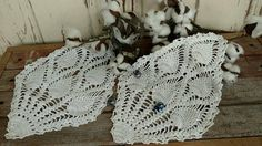 Check out this item in my Etsy shop https://www.etsy.com/listing/513440758/vintage-crocheted-doily-set-of-2-retro