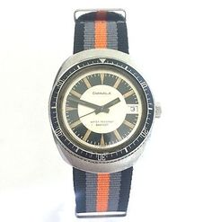 1975-Vintage-Caravelle-by-Bulova-Diver-Mens-Manual-Watch-Exotic-Dial-666ft