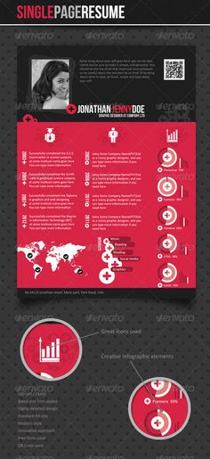 Single Page Resume Glyph icon, Print templates and Info graphics - single page resume