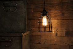 ArtifactDesign Industrial Vintage Style Curved Top Light Cage for Pendant Light…