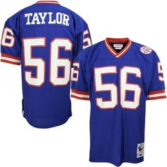 Mitchell  amp  Ness New York Giants  56 Lawrence Taylor Royal Blue  Authentic Throwback Jersey 789e2c8c4