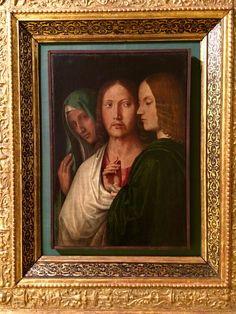 """Michele da Verona- """"Commiato di Cristo dalla madre e da Battista"""" -Ca d'Oro, Venezia Verona, Painting, Christ, Gold, Italian Painters, 16th Century, Painting Art, Paintings, Drawings"""