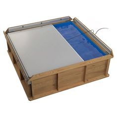 Pistoche 2m x 2m Wooden Pool with Built In Safety Cover and Filter [Pistoche Wooden Pool] - £575.00 : HeatPumps4Pools