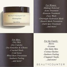 "Featuring Beautycounter's Cleansing Balm (a.k.a. THE BOMB)! It's basically a wonder product that nourishes hydrates brightens and heals the skin. It has so many uses! ""Martha Stewart Weddings"" magazine named it the single best pre-wedding-day skincare product last year!!!  You can purchase our award-winning Cleansing Balm by going to the link in my profile! And feel free to reach out with questions!"