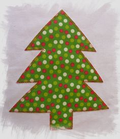 Christmas Tree Naïve Applique Machine Embroidery Design for Large Hoops