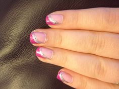 Two tone pink nails