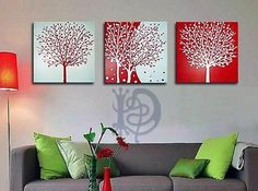 * Modern Tree Hand-painted Frameless On Canvas Art Oil Painting 3 Piece Canvas Art, Canvas Wall Art, Abstract Tree Painting, Painting Inspiration, Decoration, Diy Art, Wall Decor, Hand Painted, Home Decor