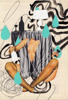 Collage retro vintage par George Douglas