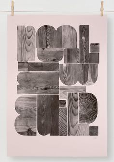 Visit editionsof100.com poster I letters from wood