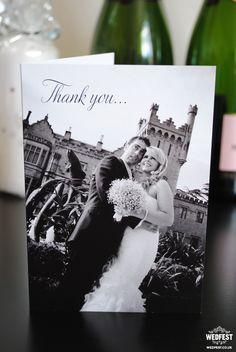 personalised wedding thank you cards - wedfest - http://www.wedfest.co/landscape-folded-wedding-thank-you-cards/
