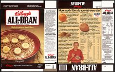 Australia - Kellogg's - All-Bran - cereal box - 1983 Bran Cereal, Cereal Bars, Barbie Food, Doll Food, Grocery Items, Grocery Store, All Bran, Minis, Did You Eat