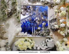 Mirror with christmas decorations #Christmas #Decorations #Ornaments #Festive #Holidays #Winter #Balls #ChristmasTree #Owl #Bird #Animal #Background
