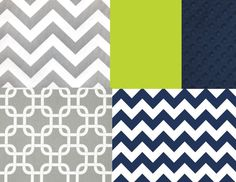 Navy Green and Gray Crib Bedding Set by butterbeansboutique, $335.00