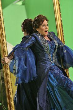 Cora, blue dress