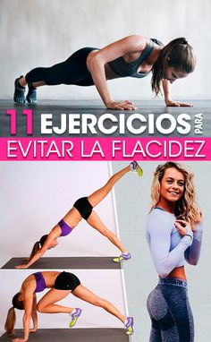 11 Ejercicios para evitar la flacidez. Exercises for flaccidity. Perfect body exercises. Easy exercises Quick exercises Diet. Healthy life. Daily Home Workout, At Home Workouts, Fitness Tips, Health Fitness, Workout Essentials, Certified Personal Trainer, Outdoor Workouts, Physical Fitness, Get In Shape