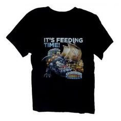 Tee-shirt Skylanders giants - noir - it's feeding time