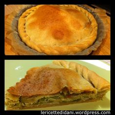 Torta verde ligure con zucchine trombette e riso