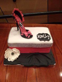 Shoe Box/High Heel Birthday Cake