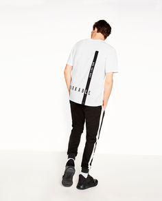 STREET T-SHIRT Shirt Print Design, Shirt Designs, Zara Official Website, Men's Wardrobe, Clothing Labels, Polo T Shirts, Apparel Design, Shirt Style, Behance