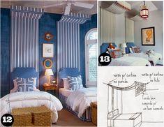 Casa Montada: 18 ideias para Decorar a cabeceira com tecido
