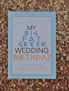My Big Fat Greek Wedding theme Birthday Party | CatchMyParty.com