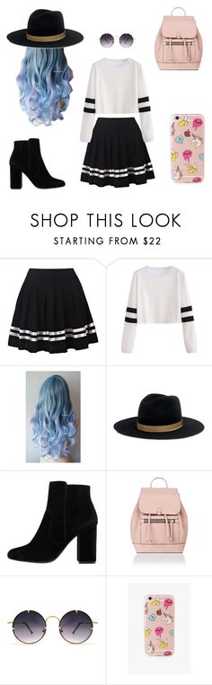 """""""School outfit"""" by gjerdrumdenice ❤ liked on Polyvore featuring Janessa Leone, MANGO, Accessorize, Spitfire and The Casery"""
