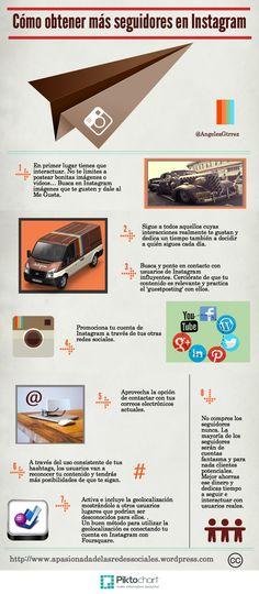Cómo conseguir más seguidores en Instagram #infografia #infographic #socialmedia