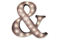 I saw this very thing on etsy for much, much less!  Light-Up Ampersand on OneKingsLane.com
