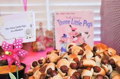 The Three Little Pigs in a Blanket Nursery Rhyme 1st Birthday