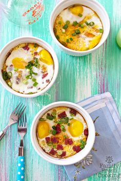 Spaghetti Squash Baked Eggs with Salami & Parmesan | recipe on FamilyFreshCooking.com — Family Fresh Cooking