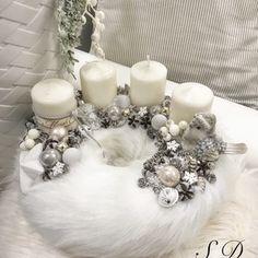 Szőrmés Adventi koszorú, Dekoráció, Ünnepi dekoráció, Karácsonyi, adventi apróságok, Karácsonyi dekoráció, Mindenmás, Meska
