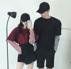 ▪ ulzzang boys and girls. Matching Couple Outfits, Matching Couples, Cute Couples, Korean Street Fashion, Asian Fashion, Style Fashion, Korean Couple, Korean Girl, Ulzzang Couple