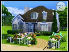 Willowbank Crest house by petitchouchou at TSR via Sims 4 Updates