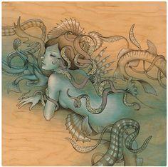 Schöne Gemälde von Audrey Kawasaki   Abduzeedo Design Inspiration