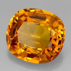 Item in Stock and ready to ship == 13.03 ct Golden Orange Sapphire 14.47 mm x 13.2 mm