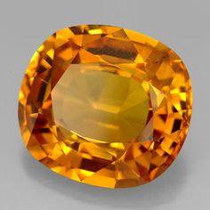 Golden orange sapphire.