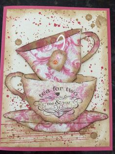 Tim Holtz tea time designed by Carm Lawrence