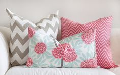 Asian-inspired designs. Love the colors and the mix of patterns.
