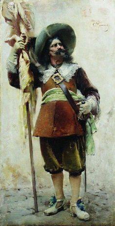 "Маковский Константин Егорович. ""Мушкетер"" 1880-е"