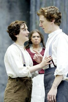 Benedict Cumberbatch as Orlando in Shakespeare's As You Like It (2002) with the New Shakespeare Company.