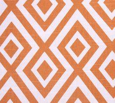 Orange Geometric Designer Pillow Cover 18 White by WhitlockandCo, $42.00