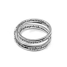 Womens Christian Silver Plated Double Mobius Strip Lord's Prayer Ring (6)